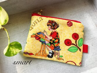 ◆ミニポーチ・カードケース・コインケース☆USAコットンの画像