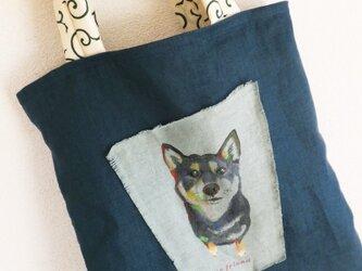 linenの柴犬バッグの画像