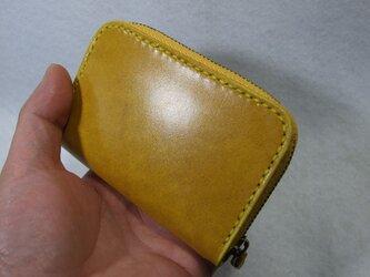 カードも入るファスナーコインケース  ルガトショルダー黄色の画像