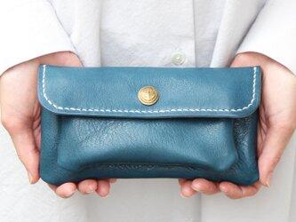mare-wallet ダックブルー(杤木レザー財布)の画像