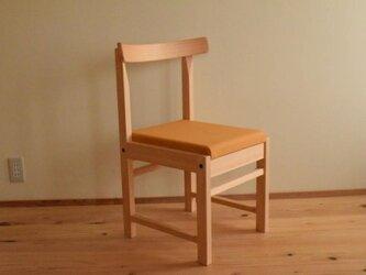 ヒノキの椅子 座面の帆布 キャメル色の画像