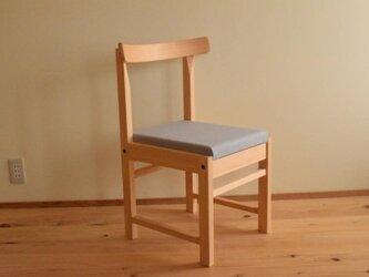 ヒノキの椅子 座面の帆布 グレー色の画像