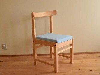 ヒノキの椅子 座面の帆布 サックス色の画像