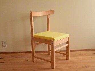 ヒノキの椅子 座面の帆布 カラシ色の画像