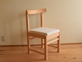 ヒノキの椅子 座面の帆布 キナリ色の画像
