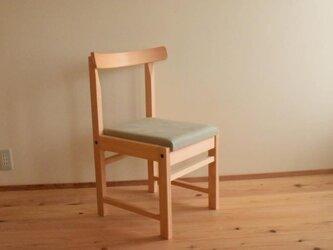 ヒノキの椅子 座面の帆布 ワサビ色の画像
