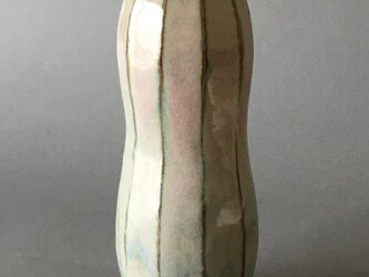 面取り 藁灰釉 花器の画像