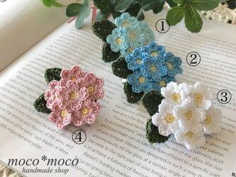*受注制作*小花のブローチ(忘れな草カラー)の画像