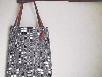 bag[手織り手提げバッグ]グレーの画像