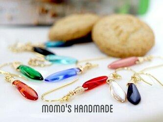 レインボーカラーピアス  Rainbow-colored earringsの画像