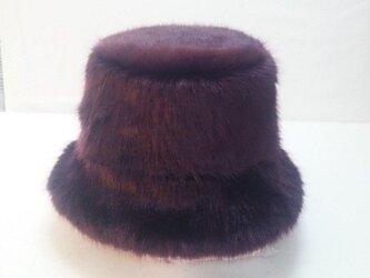 フェイクファー帽子の画像