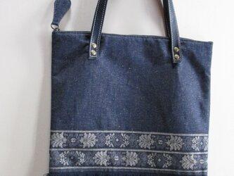 フリンジジーンズのバッグの画像