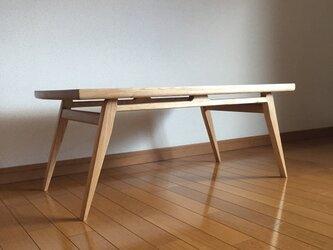 オーク ローテーブル ソファテーブル 北欧デザインの画像