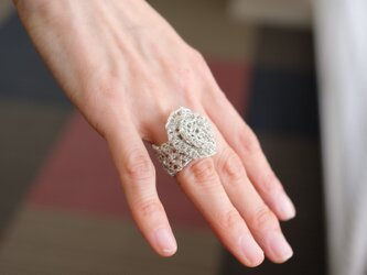 ワイヤーアートの指輪の画像