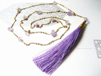 ネックレス「Purple Haze -紫けむる-」の画像