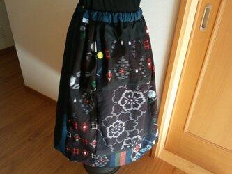 * 絣 * パッチワーク * スカート 再版は出来ませんの画像