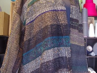 さをり織り ショートコート 52の画像
