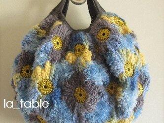 花たくさんのバッグ「BLUE&YELLOW」の画像