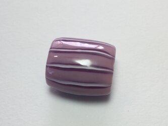 とんぼ玉*しましま模様の帯留*桃×紫×白の画像