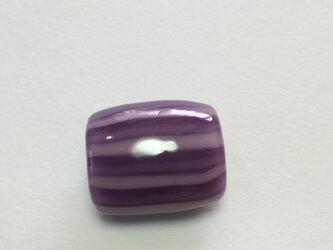 とんぼ玉*しましま模様の帯留*桃×薄紫×紫の画像