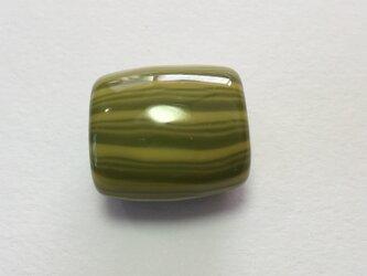 とんぼ玉*しましま模様の帯留*緑×黄緑の画像