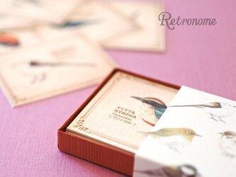 野鳥たちの小さなメッセージカードBOXの画像