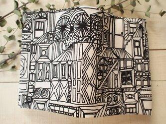 モノクロブックカバー こっそりフクロウ(裏からし) の画像