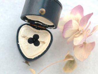 フランス製アンティークのお花のピンキー・リングの画像