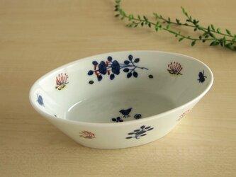 染錦花唐草 楕円鉢(小)の画像