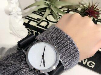 クリエイティブデザイン*隠し文字盤 ペアウォッチ 腕時計 <g-015>の画像