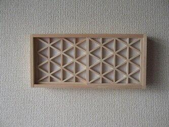 手作り組子細工 組子の小窓 障子付きの画像