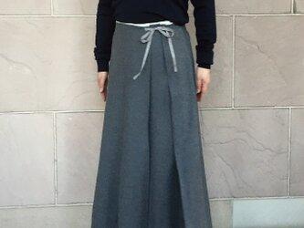 フランス製ウール フレアースカートの画像