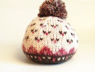 【Lady's】ほっこりあたたか冬帽子 NO:06の画像
