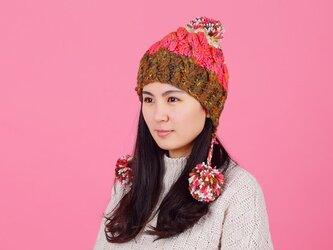 【Lady's】ほっこりあたたか冬帽子 NO:08の画像
