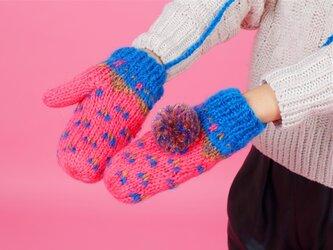 【Lady's】ほっこりあたたか冬手袋 NO:07の画像