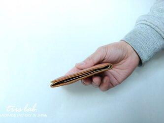 コインポケットのあるお財布 イタリアレザー 札ばさみ NEW!の画像