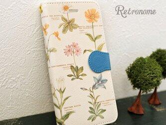 植物柄スマホケース手帳型の画像