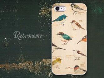 野鳥柄のiPhoneハードケースの画像
