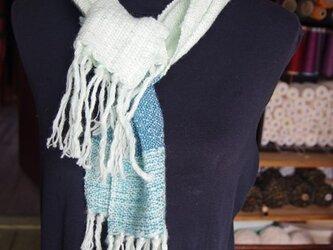 手織り ショートマフラー 1129aの画像