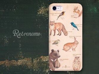 森のどうぶつ柄のiPhoneハードケースの画像