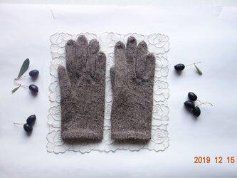 アルパカ糸の手袋の画像