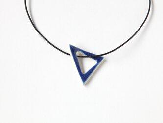 陶のペンダント triangle カリビアンブルーの画像
