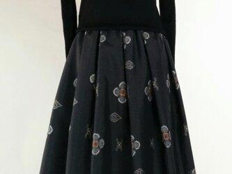 着物リメイクスカートの画像