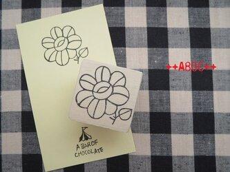 刺繍図案はんこお花_01の画像