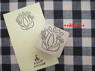 刺繍図案はんこチューリップ_01の画像