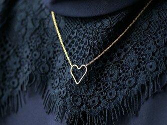 14KGFハートのフープネックレス ~Valentinaの画像