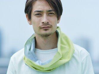 てぬぐい Oo[ワオ] Yellow × Gray 【Lサイズ】の画像