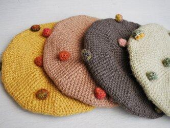 ぶつぶつベレー帽 kids用 グレーの画像