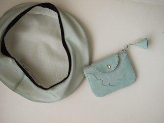 temple coin purse < opal green >【 受注生産 】の画像