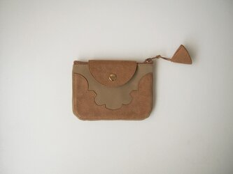temple coin purse < camel >の画像